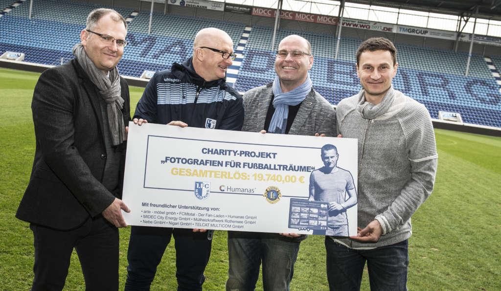 """""""Fotografien für Fußballträume"""" – Charity Projekt erzielt 19.740,00 €"""