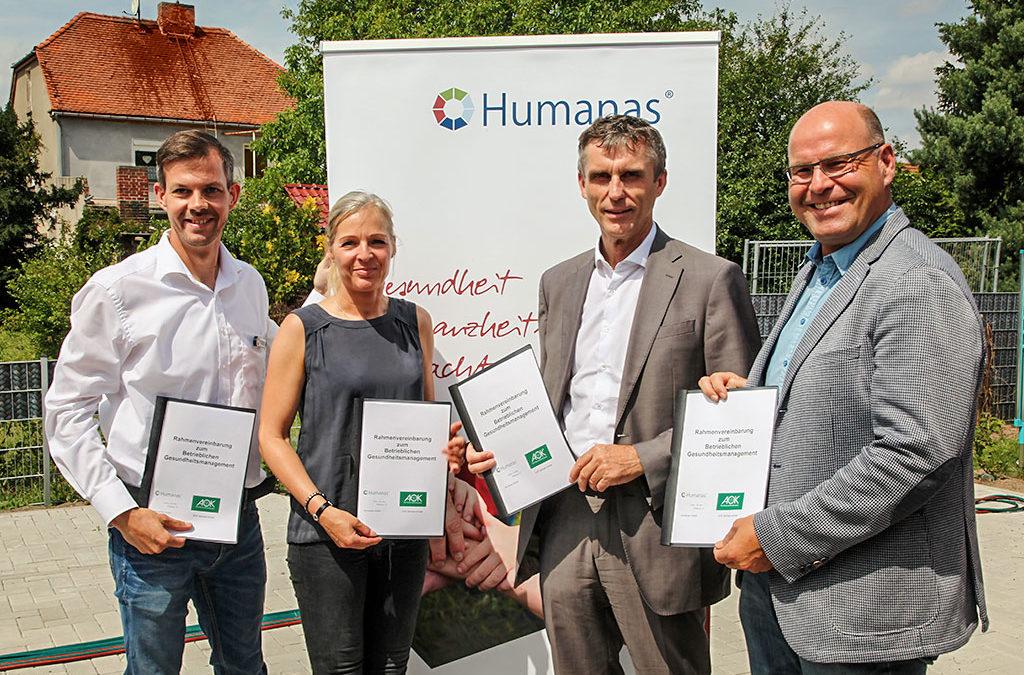 Humanas unterzeichnet AOK-Rahmenvereinbarung