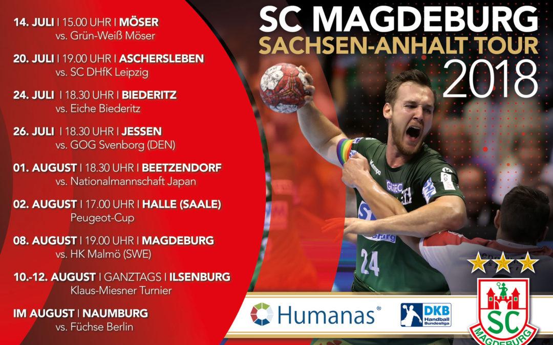 Humanas auf Sommertour 2018 mit dem SC Magdeburg